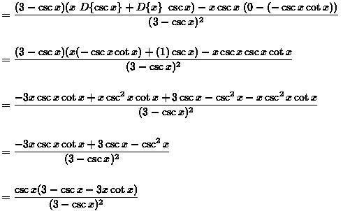 Derivatives of Trigonometric Functions - Web Formulas