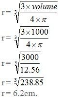 Volume of a sphere web formulas the formula to find the radius of a sphere formula is ccuart Choice Image
